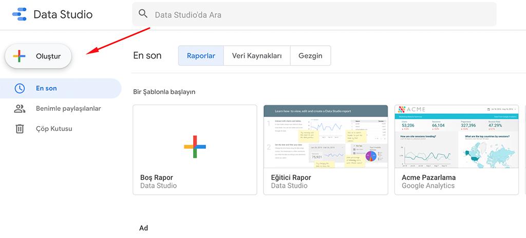 Google Data Studio Nasıl Kullanılır